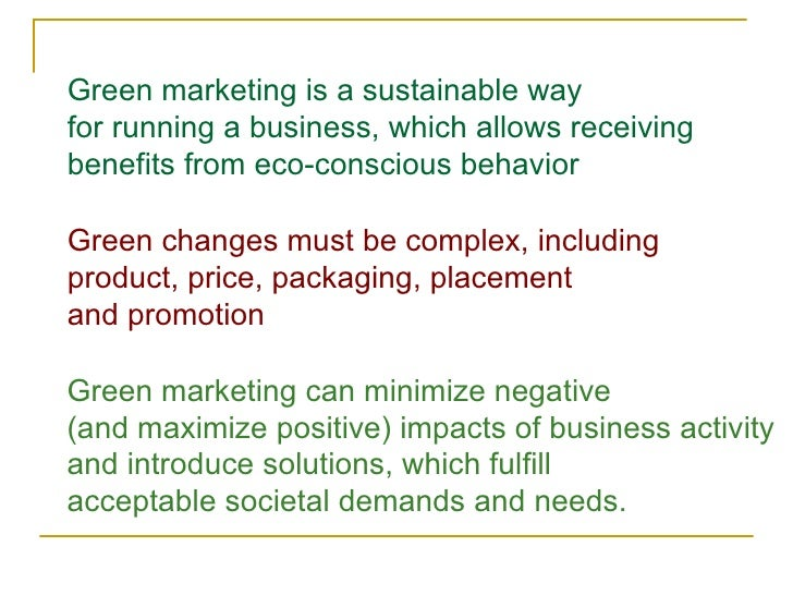 GREEN MARKETING – OPPORTUNITIES & CHALLENGES