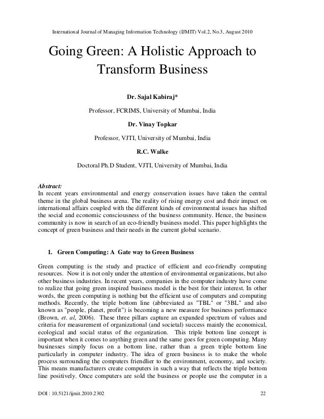 International Journal of Managing Information Technology (IJMIT) Vol.2, No.3, August 2010 DOI : 10.5121/ijmit.2010.2302 22...