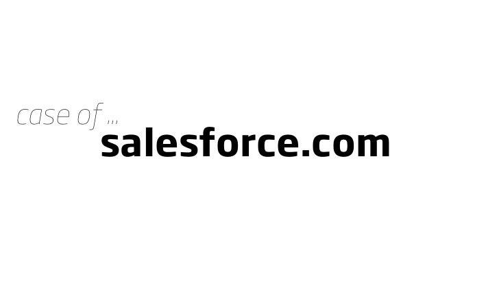 case of ...          salesforce.com