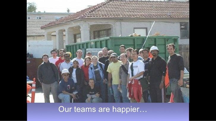 Our teams are happier…