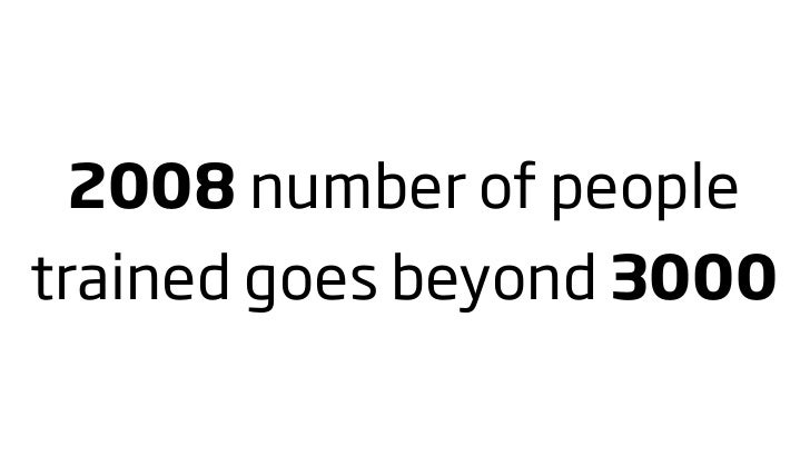2008 number of people trained goes beyond 3000