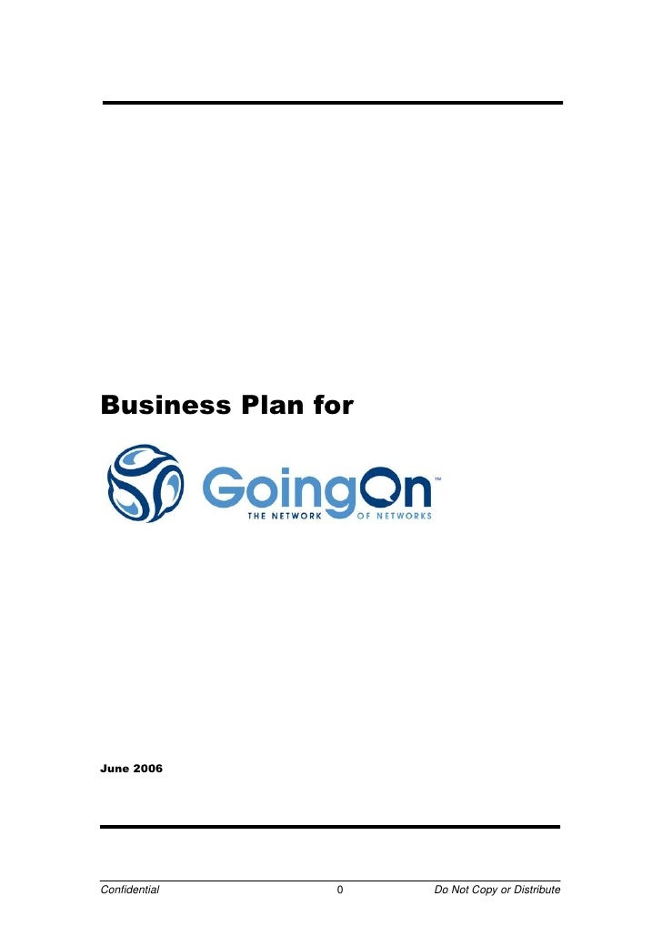 GoingOn Networks Business Plan 2006