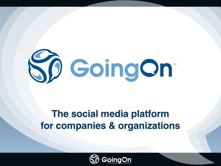 The social media platform for companies & organizations