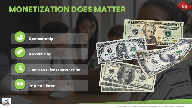 MONETIZATION DOES MATTER Alicia Butler Pierre - Business Infrastructure Podcast – https://businessinfrastructure.tv/ Spons...