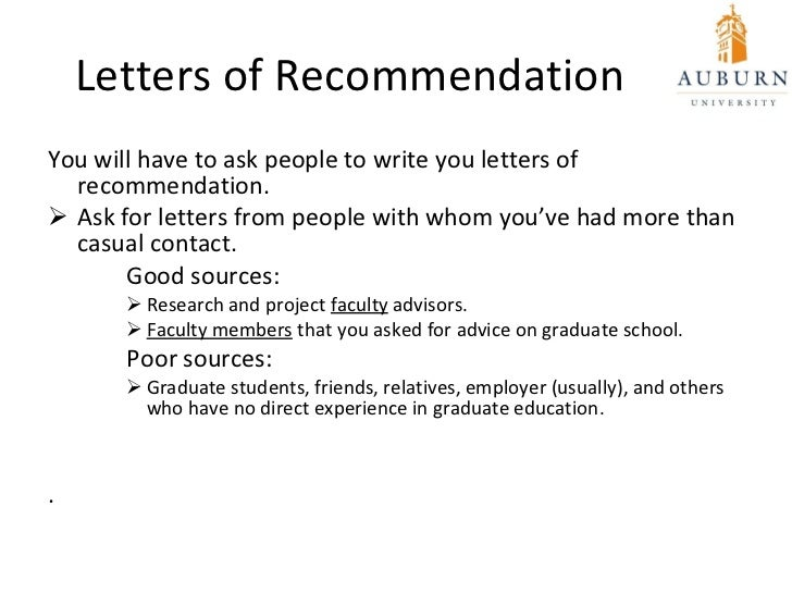 Letter Of Recommendation For School: Going To Graduate School