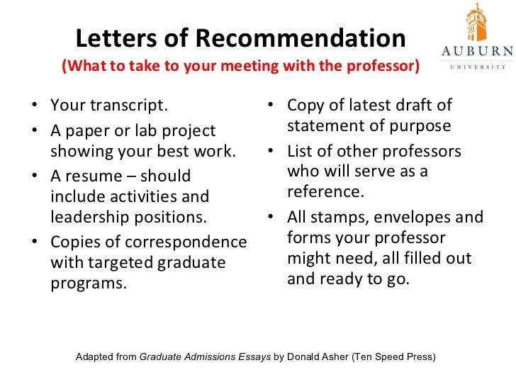 Graduate Admissions Essays Donald Asher Pdf