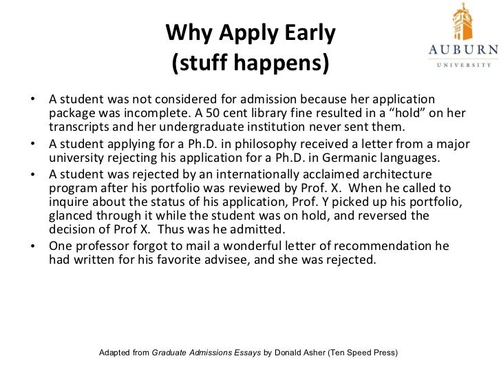 grad admissions essays There is no secret formula to writing a compelling personal statement for an mba application, university admissions officials say the key, they say, is to write a statement that feels authentic.