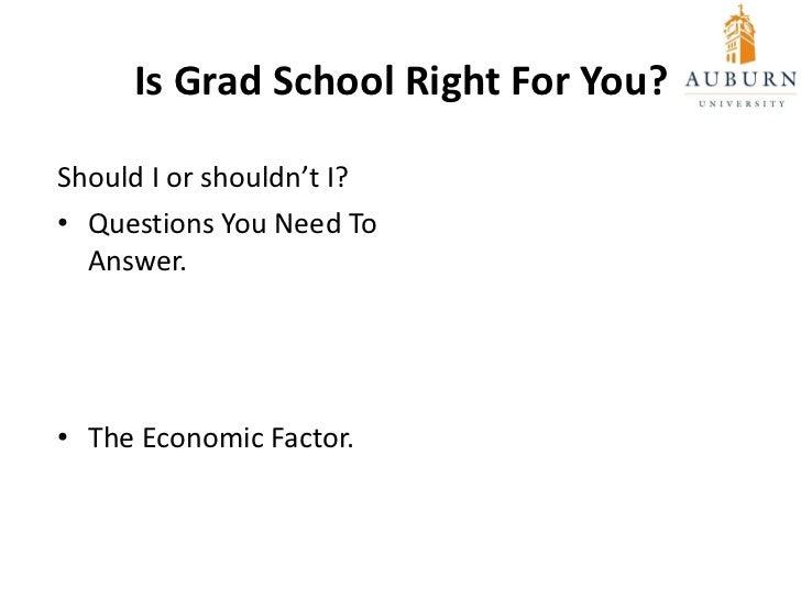 should i go to graduate school