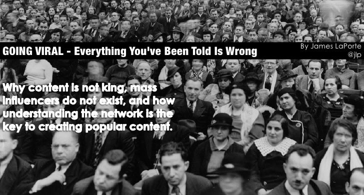 By James LaPorteGOING VIRAL - Everything Youve Been Told Is Wrong               @jlp