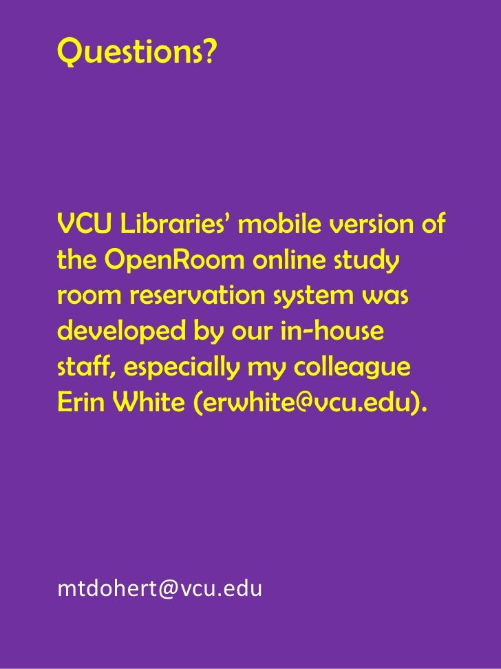 Vcu Library Room