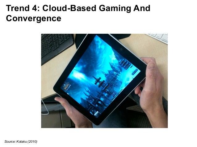 Trend 4: Cloud-Based Gaming And  Convergence  Source: Kotaku (2010)