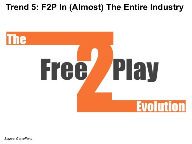 Trend 5: F2P In (Almost) The Entire Industry  Source: GameFans