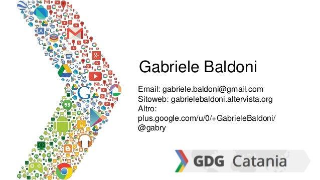 Gabriele Baldoni Email: gabriele.baldoni@gmail.com Sitoweb: gabrielebaldoni.altervista.org Altro: plus.google.com/u/0/+Gab...