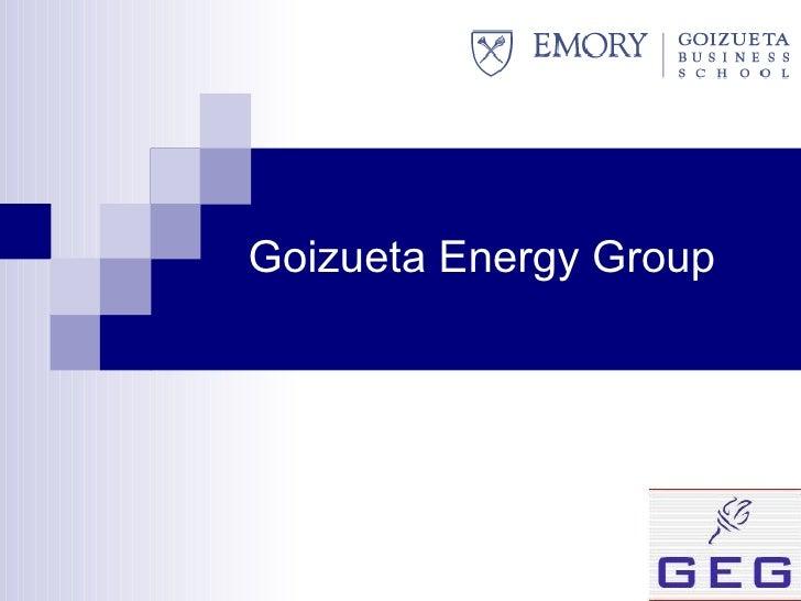 Goizueta Energy Group