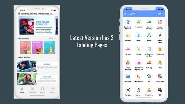 Latest Version has 2 Landing Pages