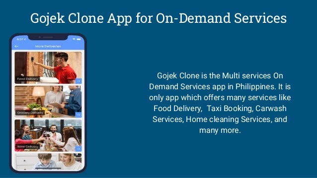 Gojek Clone App for On-Demand Services Gojek Clone is the Multi services On Demand Services app in Philippines. It is only...