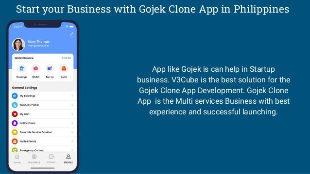 Start your Business with Gojek Clone App in Philippines App like Gojek is can help in Startup business. V3Cube is the best...