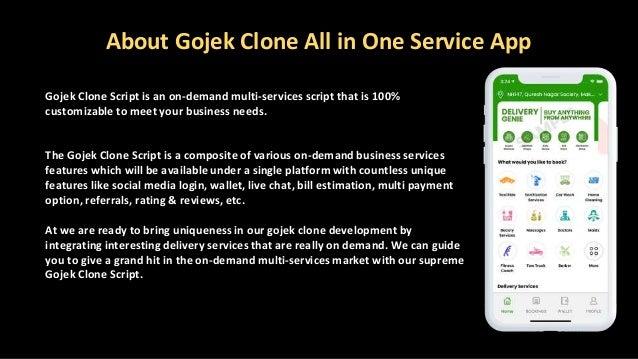 About Gojek Clone All in One Service App Gojek Clone Script is an on-demand multi-services script that is 100% customizabl...
