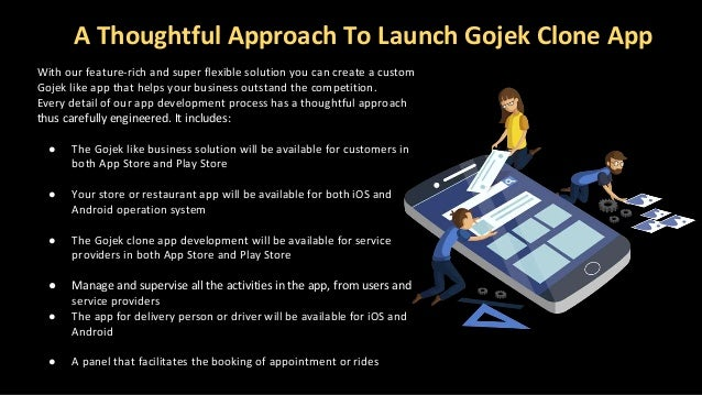 A Thoughtful Approach To Launch Gojek Clone App With our feature-rich and super flexible solution you can create a custom ...