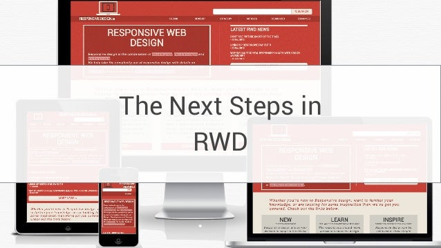 The Next Steps in RWD