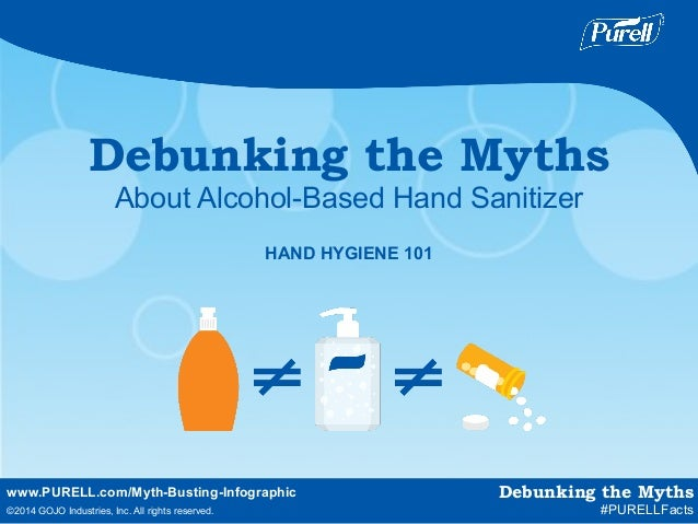 www.PURELL.com/Myth-Busting-Infographic   ©2014 GOJO Industries, Inc. All rights reserved. Debunking the Myths About Alc...