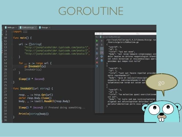 GOROUTINE go