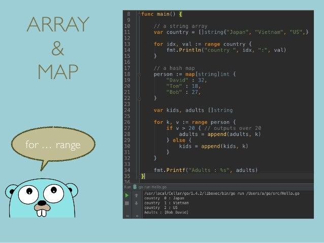 ARRAY & MAP for … range