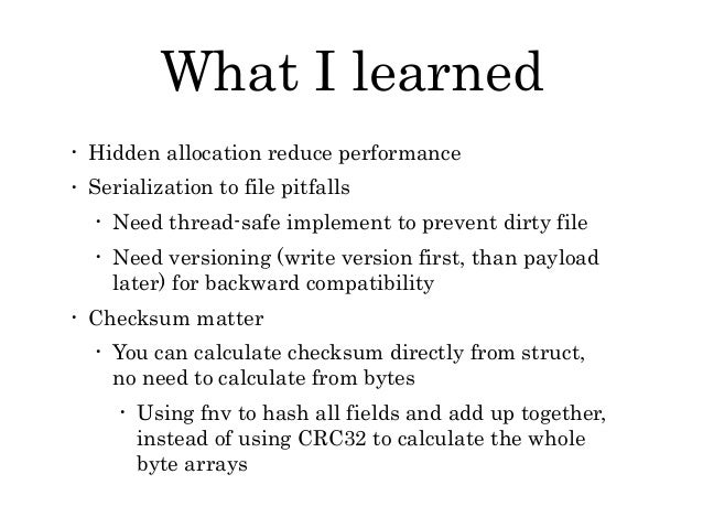 Story Writing Byte Serializer in Golang
