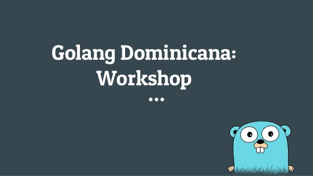 Golang Dominicana: Workshop