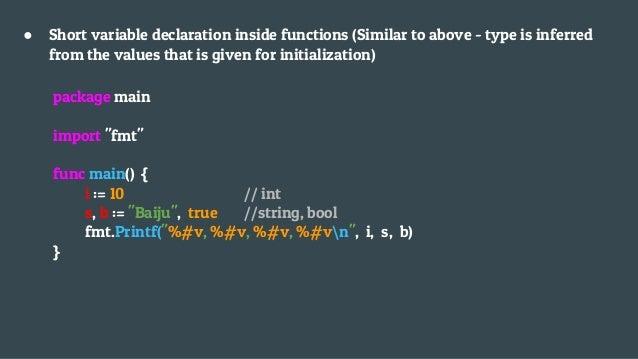 Part 3 : Cara mendeklerasikan variable dalam Go Lang