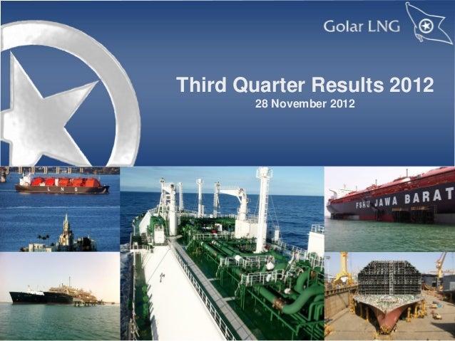 Third Quarter Results 2012       28 November 2012