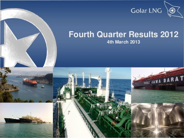 Fourth Quarter Results 2012         4th March 2013