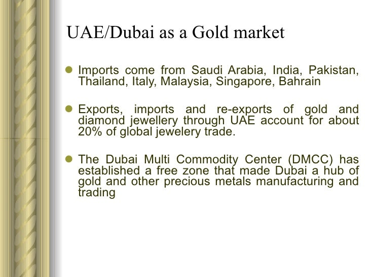 Gold industry in UAE