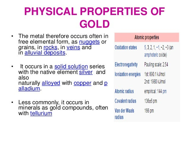 Physical State Of Gold At Room Temperature