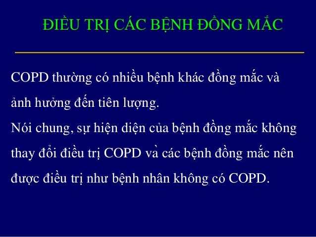Tiêu chuẩn chẩn đoán bệnh phổi tắc nghẹn mạn tính