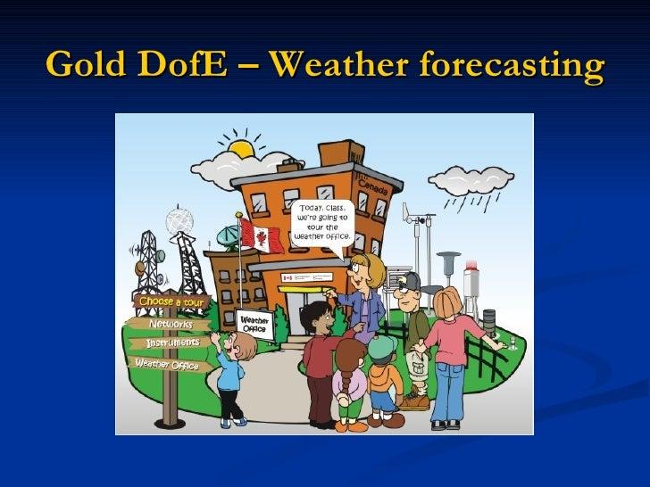 Gold DofE – Weather forecasting