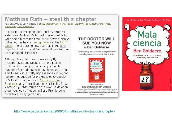 http://www.badscience.net/2009/04/matthias-rath-steal-this-chapter/