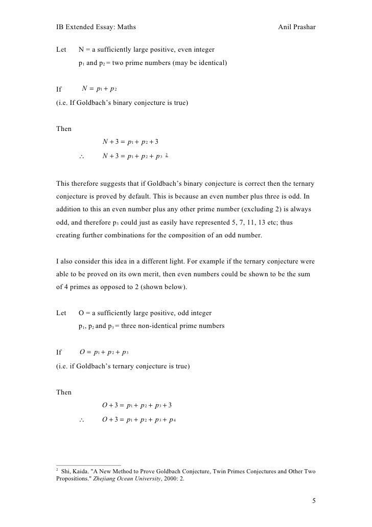 goldbach conjecture 4 5