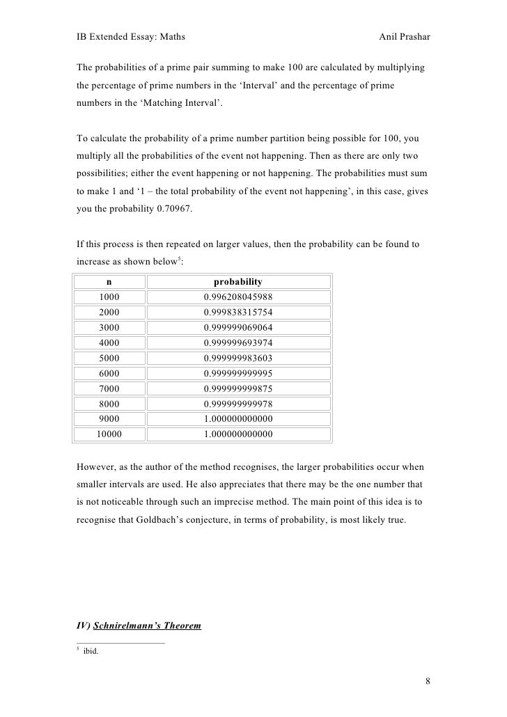 prime number extended essay What are the extended riemann hypothesis, generalised rh, grand rh  the  prime numbers appear throughout the sequence of counting numbers but   the mark of zeta: ivars peterson's introductory essay on rh and riemann's zeta .
