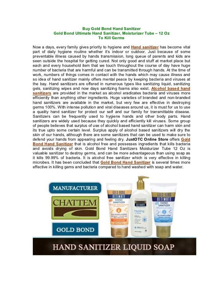 Buy Gold Bond Hand Sanitizer            Gold Bond Ultimate Hand Sanitizer, Moisturizer Tube – 12 Oz                       ...