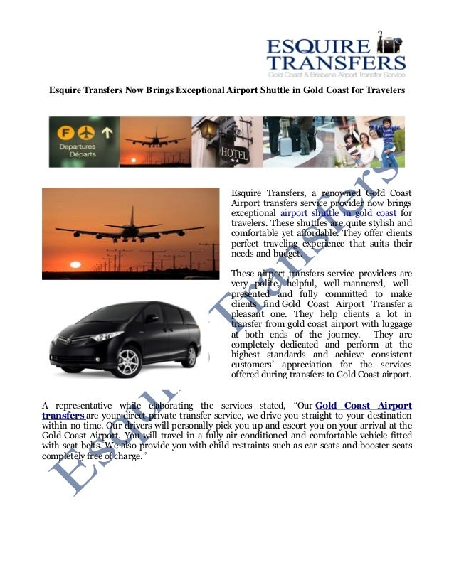 Esquire Transfers Now Brings Exceptional Airport Shuttle In Gold Coast For Travelers