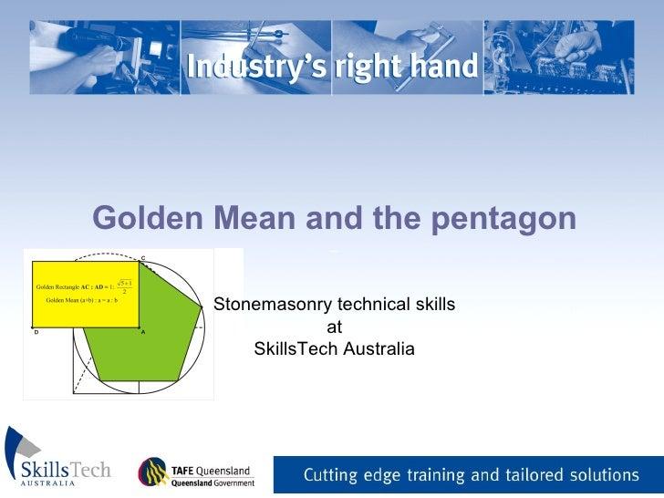 Golden Mean and the pentagon _   Stonemasonry technical skills at SkillsTech Australia