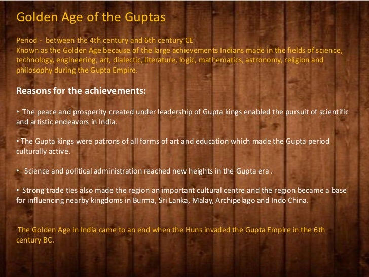 gupta golden age essay I need help with my global essay please two prefect examples of golden age are the gupta empire in india and the han dynasty, in china.