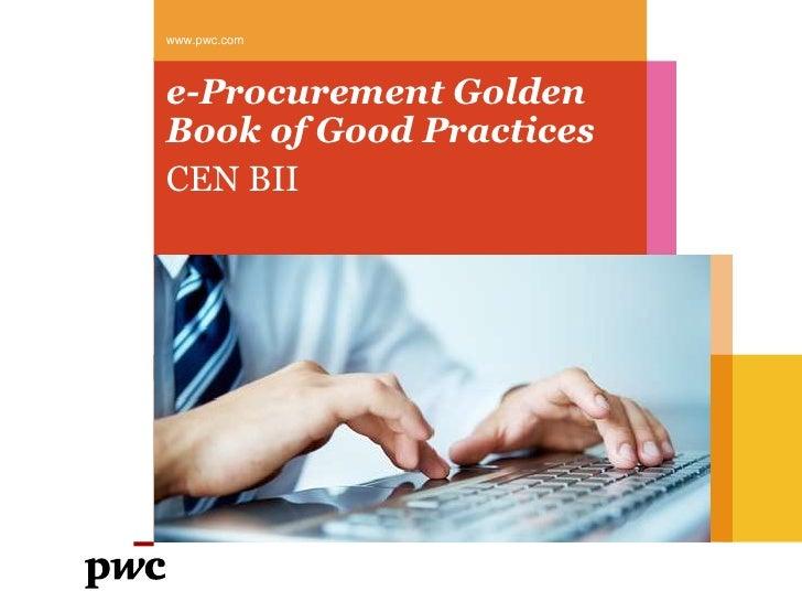 www.pwc.come-Procurement GoldenBook of Good PracticesCEN BII