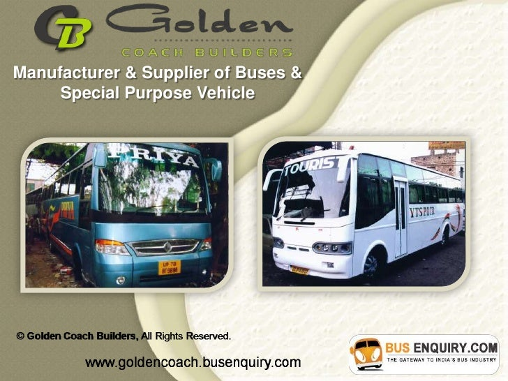 Manufacturer & Supplier of Buses &     Special Purpose Vehicle