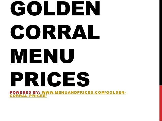 Golden corral menu prices 2016
