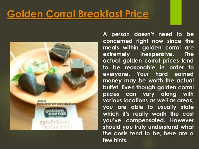 Golden Corral Buffet Price