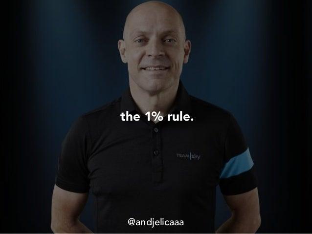 the 1% rule. @andjelicaaa