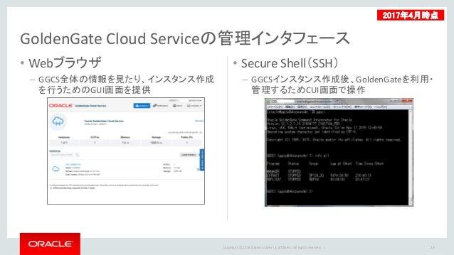 Oracle Goldengate Cloud Service Ggcs 概要