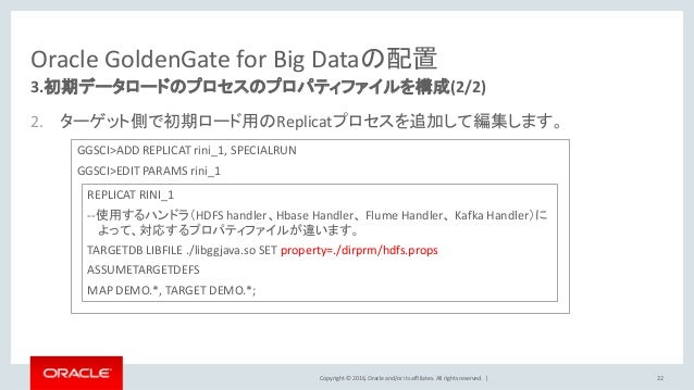 Oracle Goldengate For Big Data 12 2 セットアップガイド
